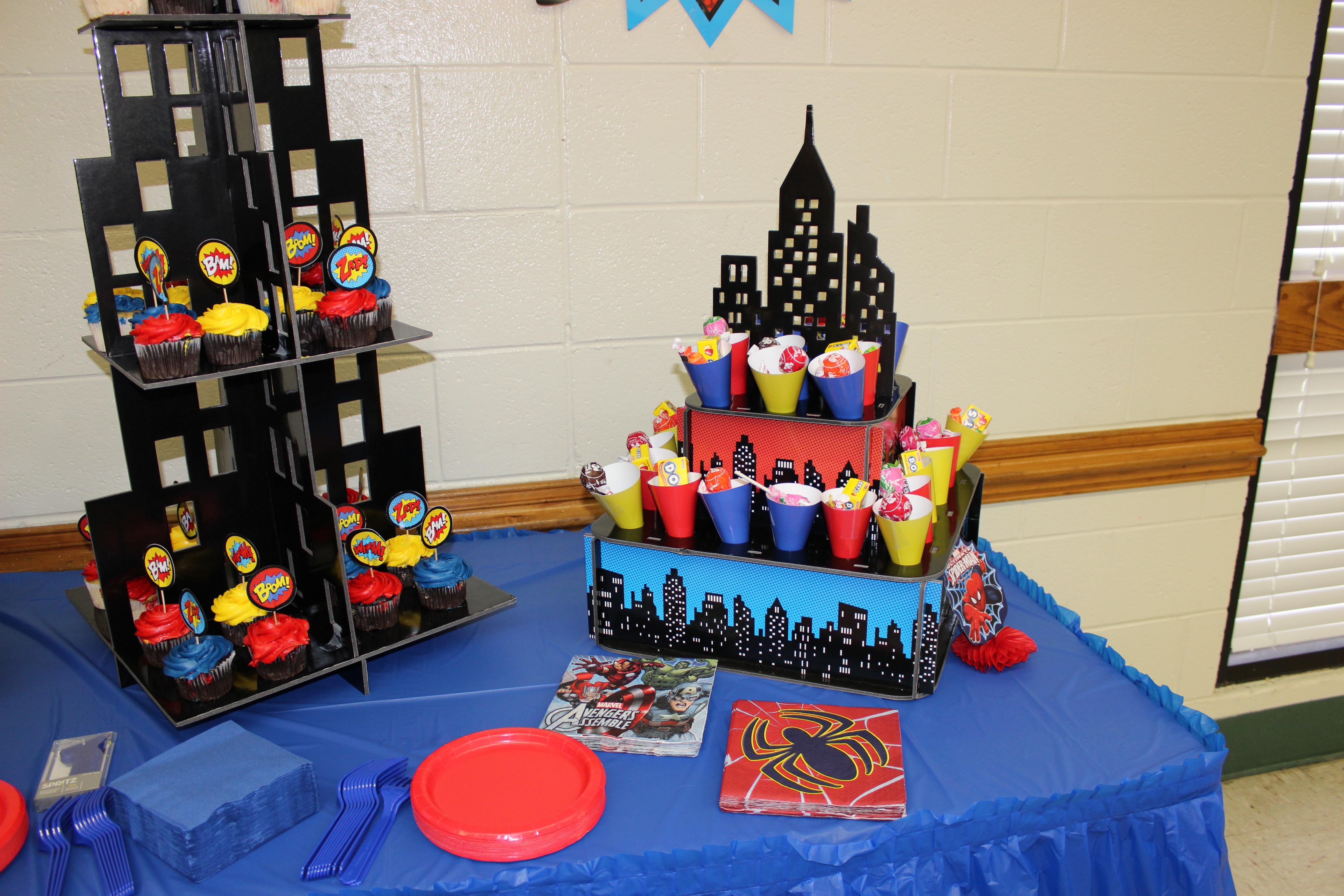 Superhero Themed 1st Birthday Party