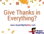 Give Thanks inEverything?